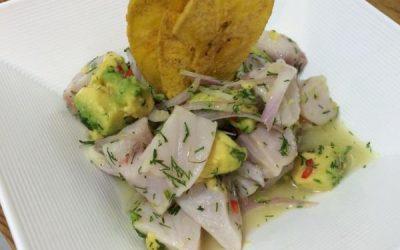 Ceviche de Tilápia com Abacate