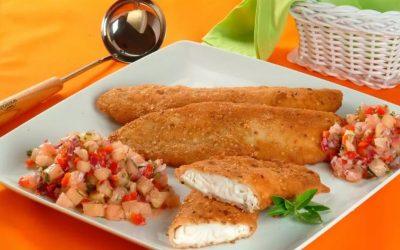 Tilápia com crosta de castanha de caju e salsa de abacaxi